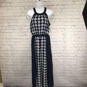 Philosophy Geo Wheel Print Sleeveless Maxi Dress
